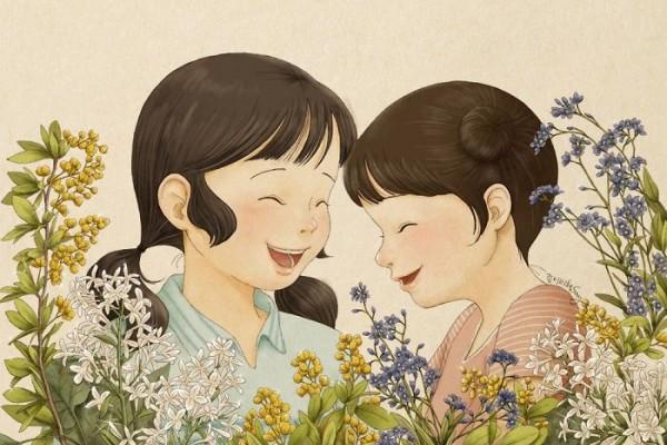 Bikin Baper 15 Ilustrasi Ini Gambarkan Dekatnya Kakak Adik Perempuan