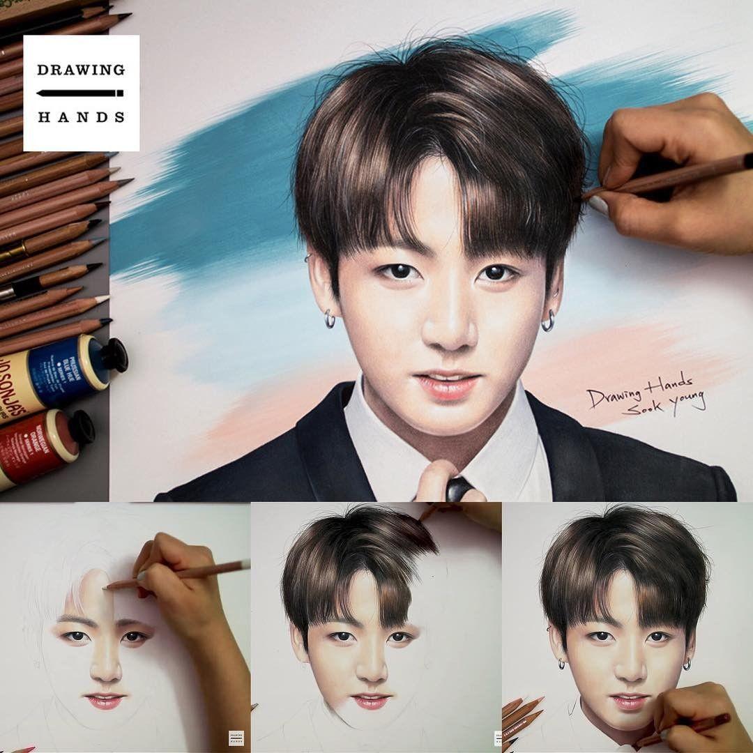 Seniman Korea Ini Lukis Idol KPop Pakai Pensil Warna