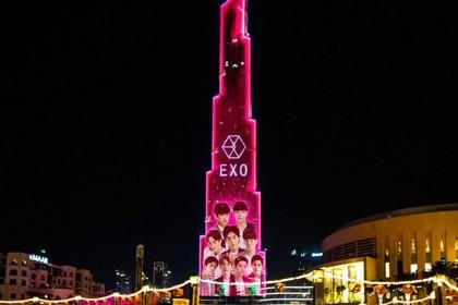 EXO Satu-satunya Artis KPop yang Bakal Tampil di LED Burj Khalifa
