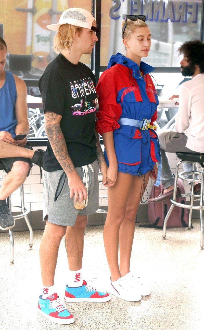10 Fashion ala Justin Bieber dan Hailey Baldwin Saat Kencan, Kece!