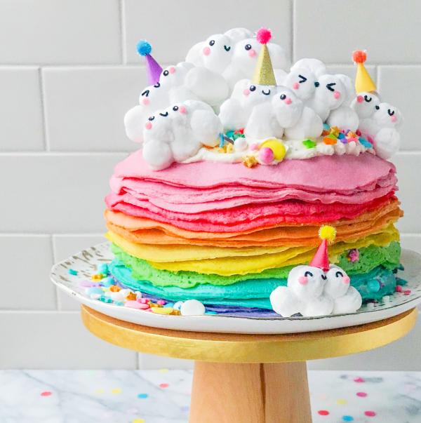 12 Ide Kreasi Kue Bernuansa Pelangi, Cocok Buat Acara Ulang Tahun Anak