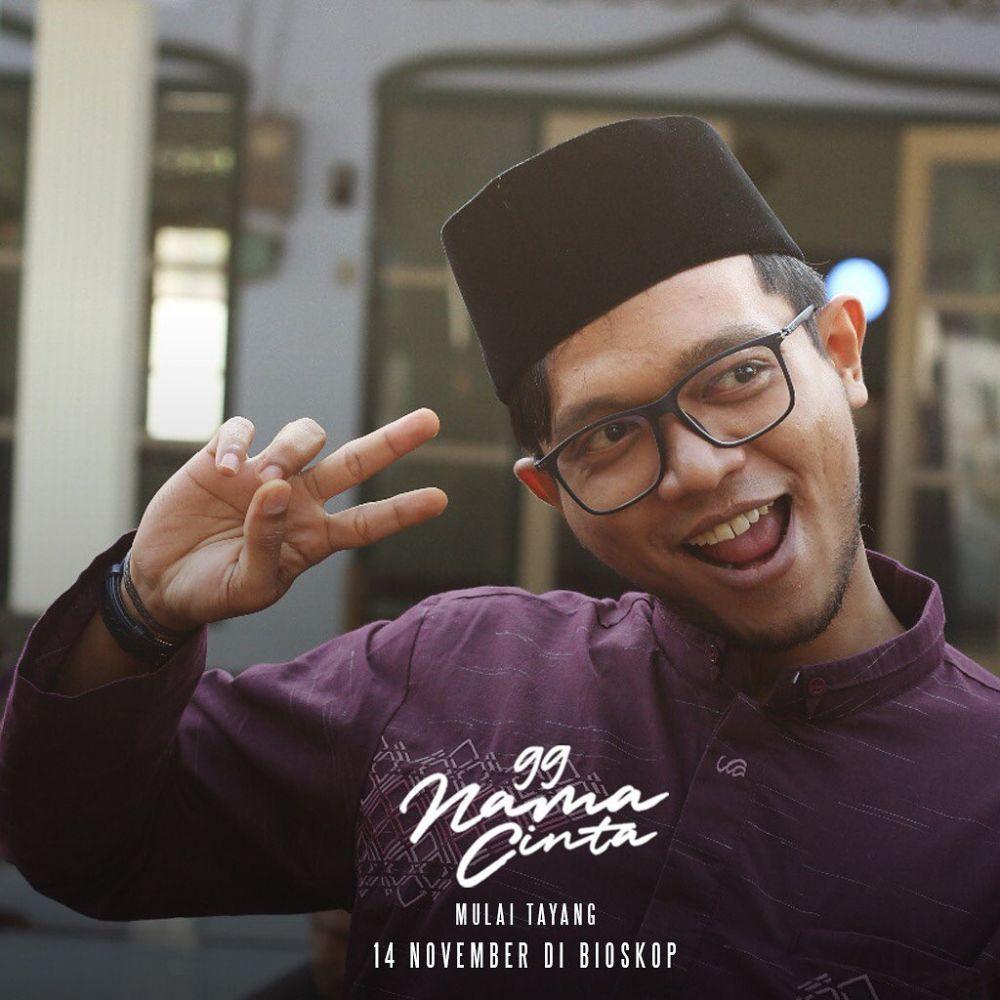 10 Potret Komedian Dzawin, Pemeran Ustadz Bambu di Film 99 Nama Cinta