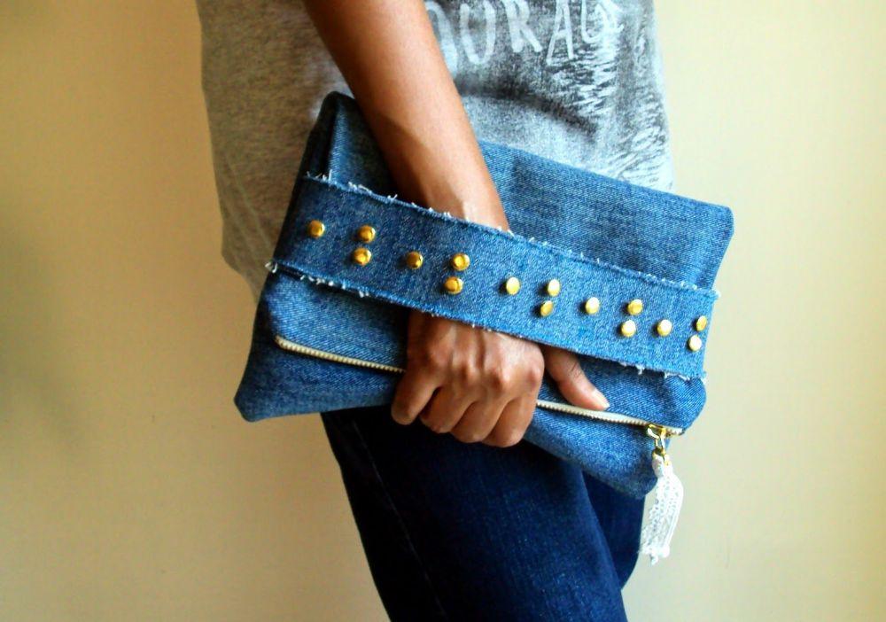 11 DIY Aksesoris Ini Bisa Dibuat dari Celana Jeans Bekas,Mudah & Lucu