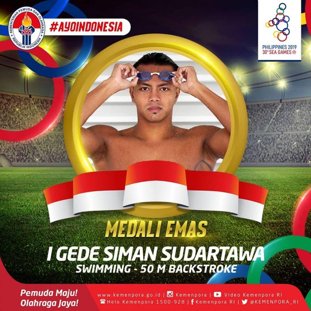 Profil I Gd Siman Sudartawa, Perenang Peraih Emas di SEA Games 2019