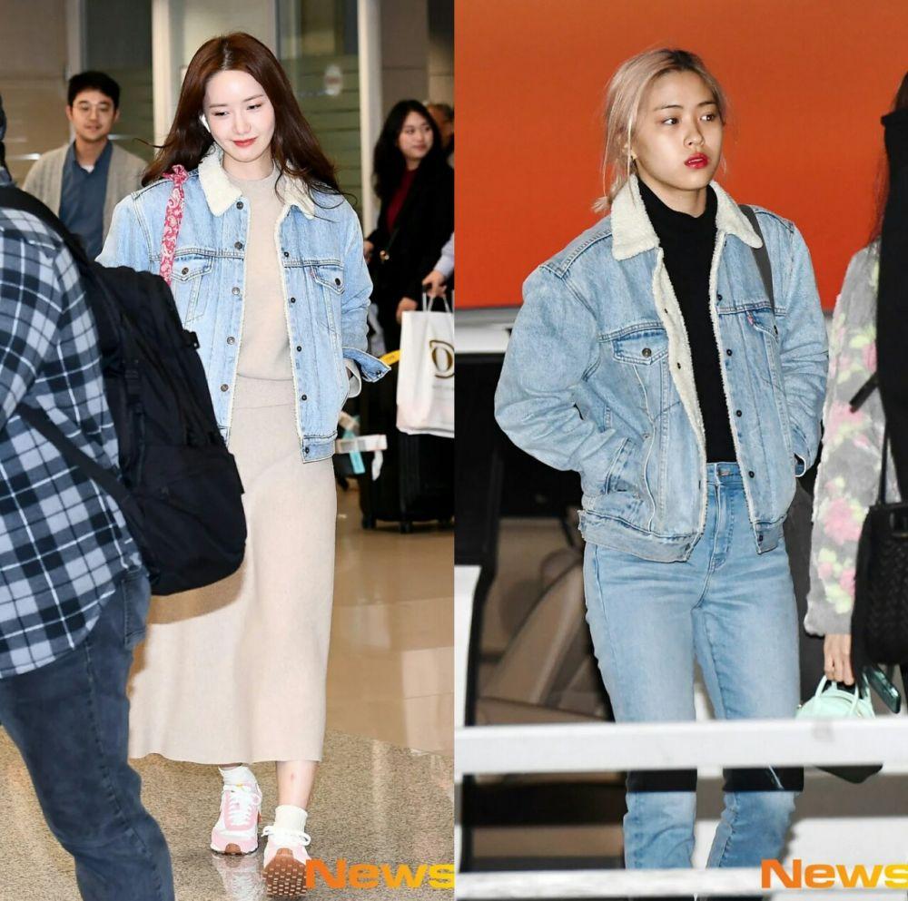 Selalu Chic, 10 Gaya Yoona Kenakan Outfit Sama dengan Seleb Lain