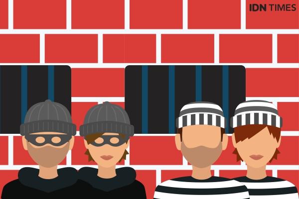 Pencuri Ponsel Wisatawan Pantai Tanggamus Ditangkap di Tangerang