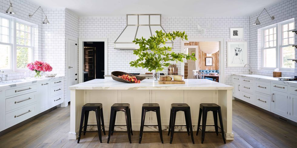 6 Enchanted Dream Kitchen White with Wooden Flooring