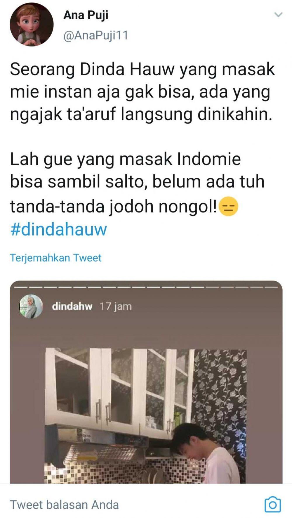 Dinda Hauw Ngaku Gak Bisa Masak Mie Instan, 9 Tanggapan Kocak Netizen