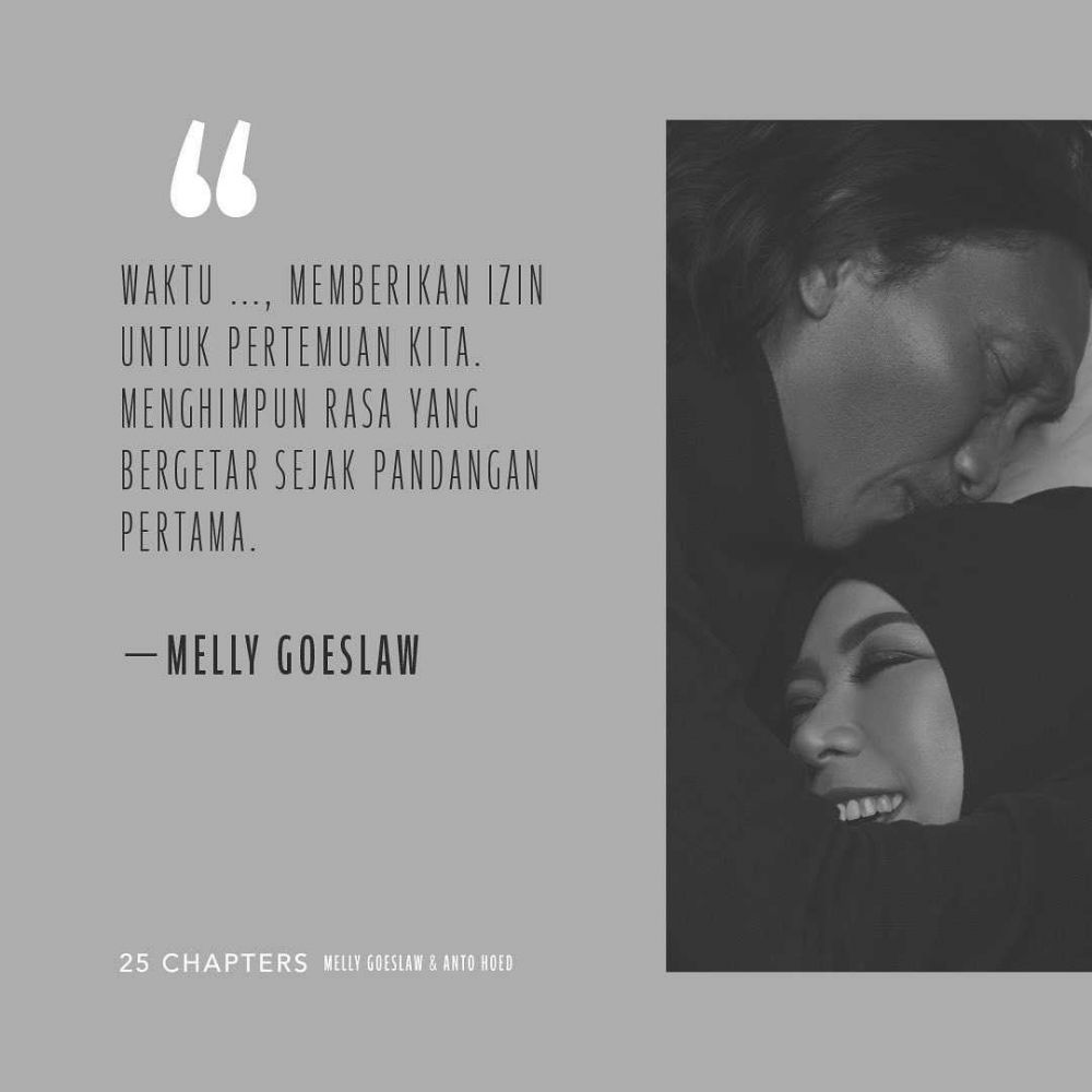 Couple Goals, 20 Quotes Cinta Penuh Makna Melly Goeslaw & Anto Hoed!