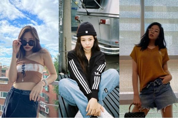 9 Inspirasi Outfit Denim ala Jennie BLACKPINK, Kece Banget!