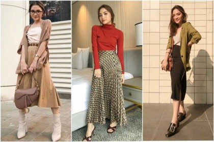 10 Ide Mix and Match Skirt ala Stephanie Rose, Casual Cantik