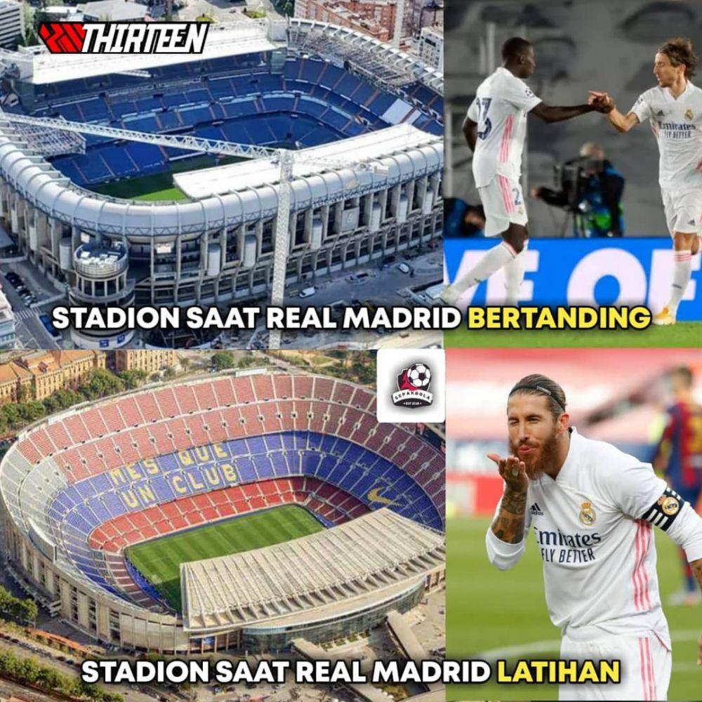 Barcelona Kalah 1-3 dari Real Madrid, Ini 10 Meme Kocak El Clasico