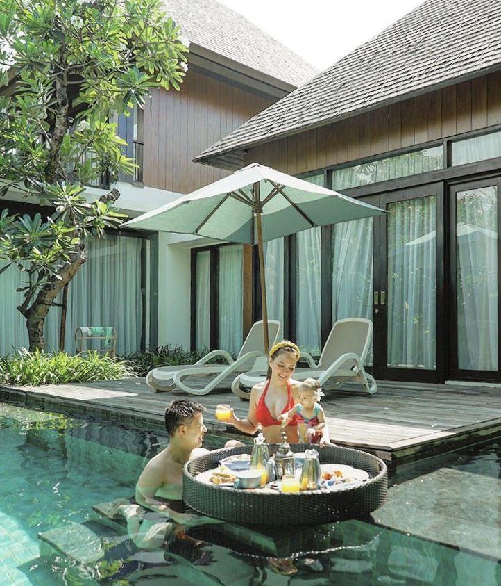 Tinggal di Resort Mewah Bali, 10 Potret Mesra Keluarga Shandy Aulia