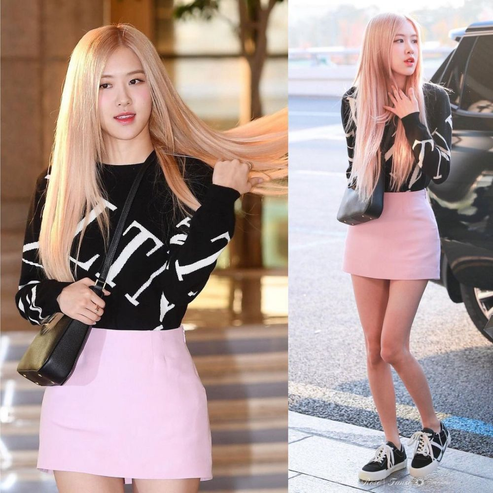 10 Ide Mix and Match Outfit Serba Hitam ala Rose BLACKPINK