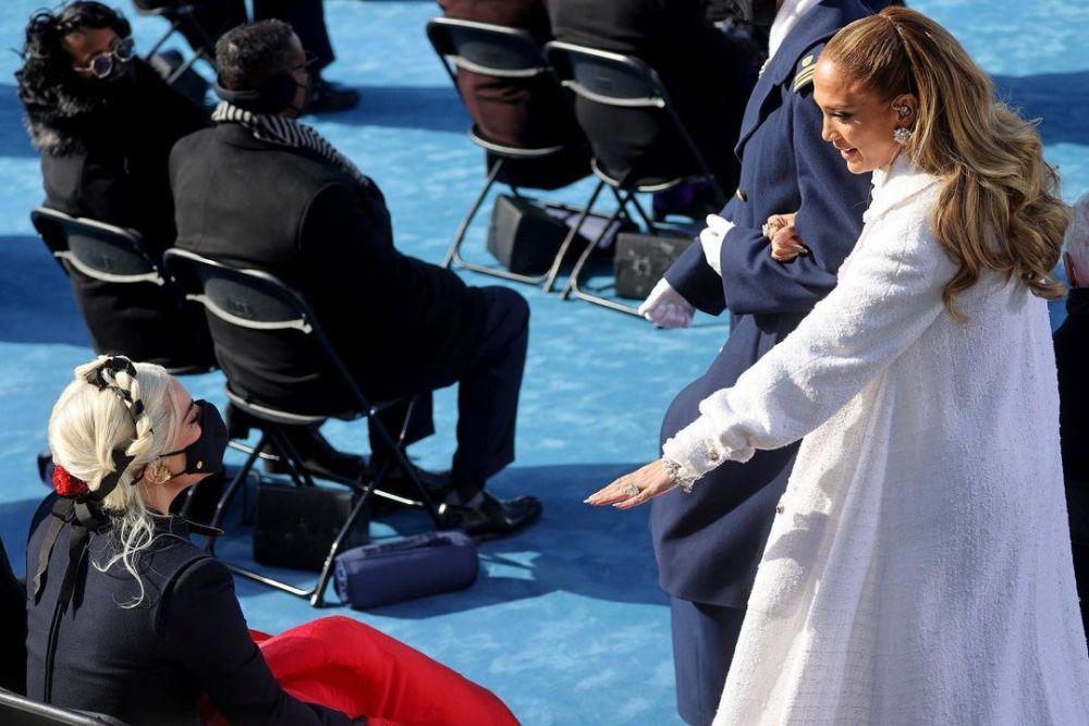 Ini Foto Anggun Lady Gaga di Acara Inagurasi Joe Biden & Kamala Harris