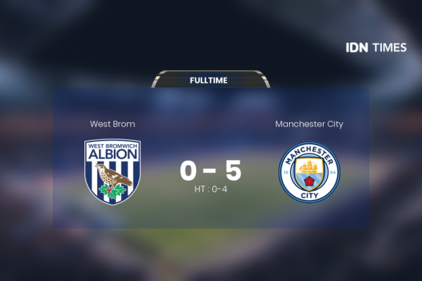 West Brom Dihajar Manchester City 0-5, Guardiola Puji Pemain