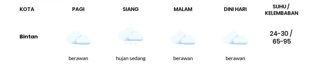 Prakiraan Cuaca Hari Ini 28 Januari 2021, Sebagian Batam Bakal Berawan