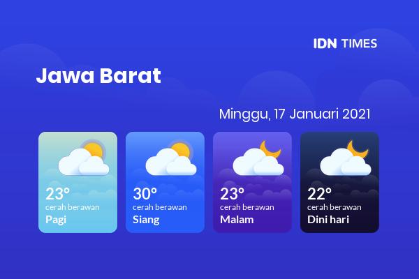 Cuaca Esok Hari 17 Januari 2021: Bekasi Cerah Berawan Siang Hari, Cerah Berawan Sore Hari