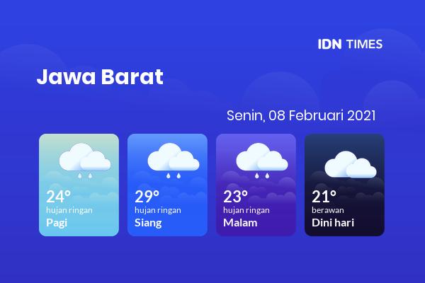 Cuaca Hari Ini 08 Februari 2021: Bekasi Hujan Sepanjang Hari