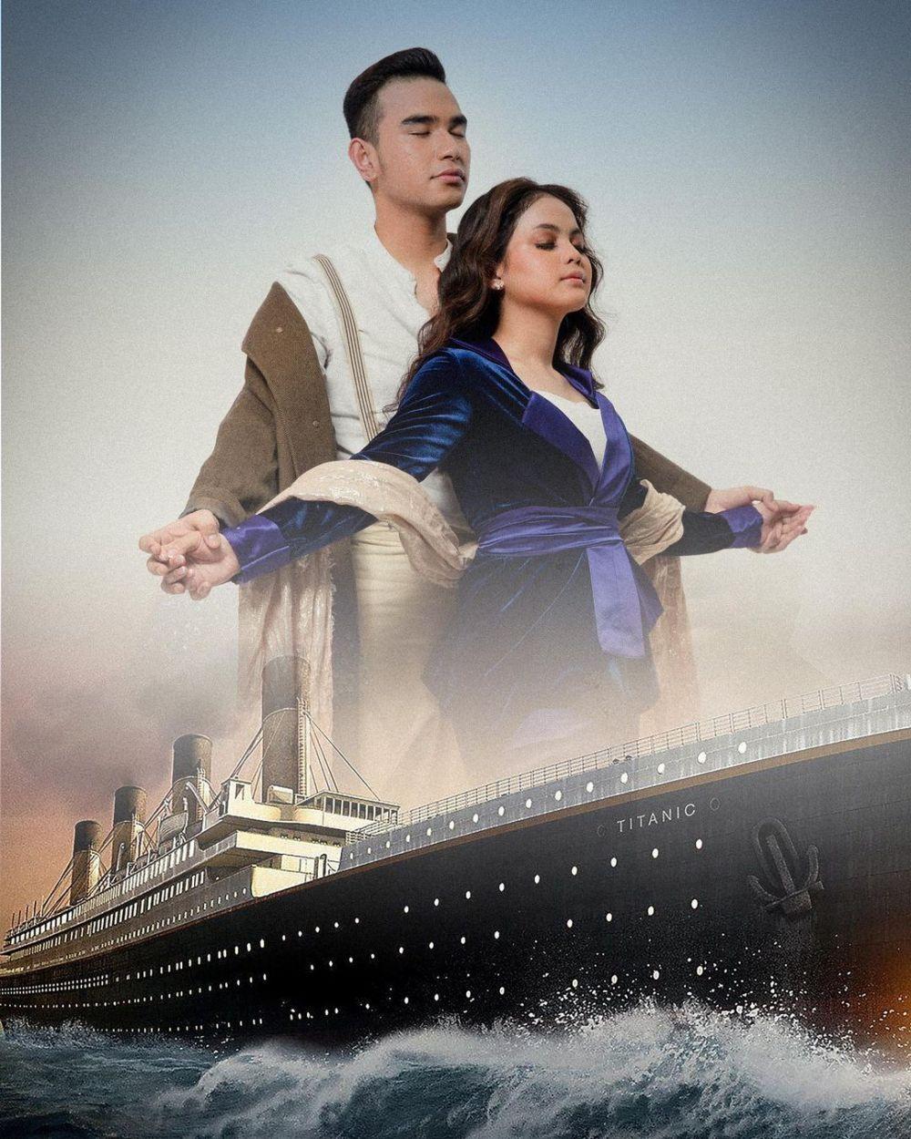 9 Pasang Seleb Tiru Pose Ala Titanic, Ada Romantis dan Kocak
