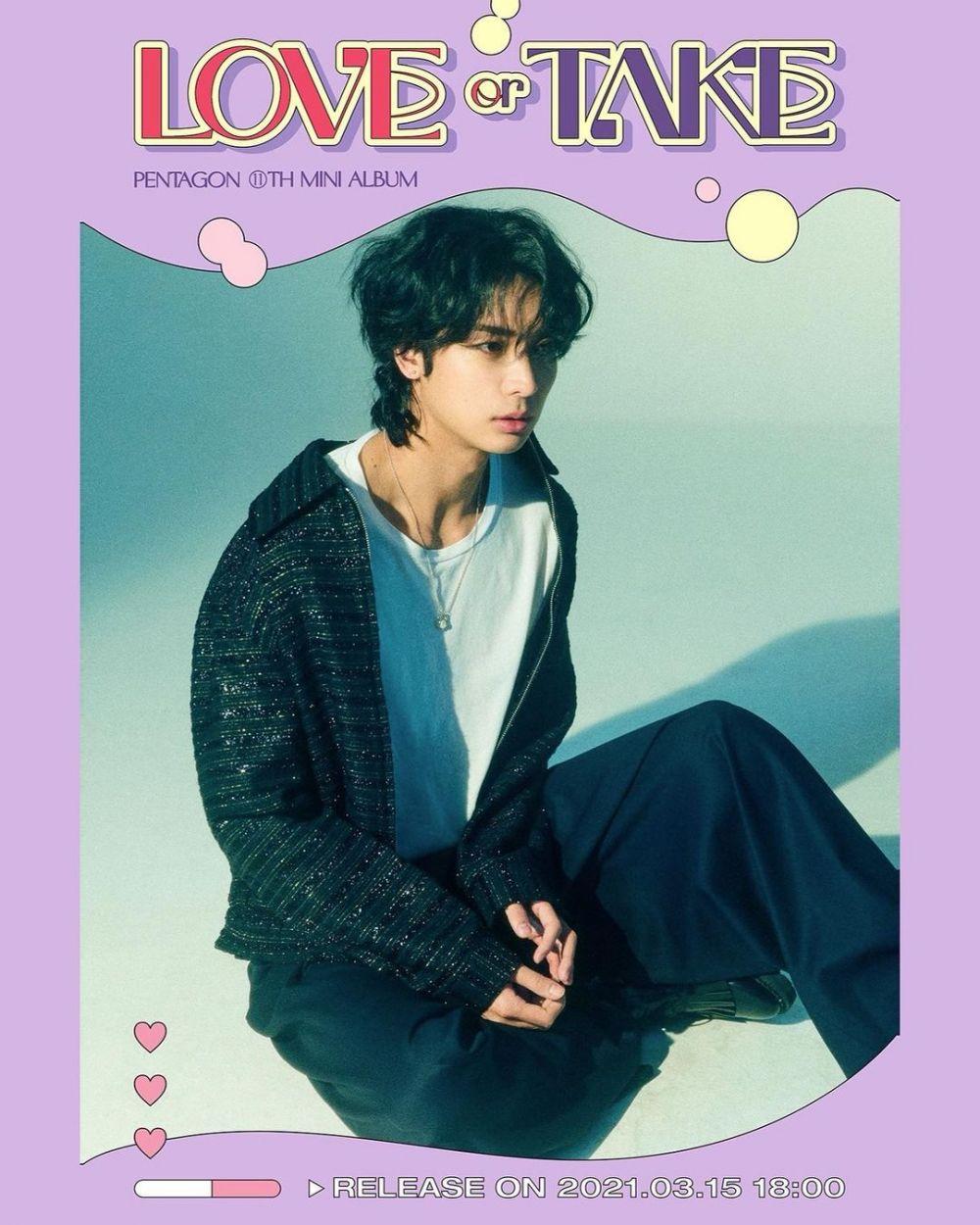 Penuh Pesona, 9 Foto Teaser PENTAGON di Album LOVE or TAKE Versi Mild