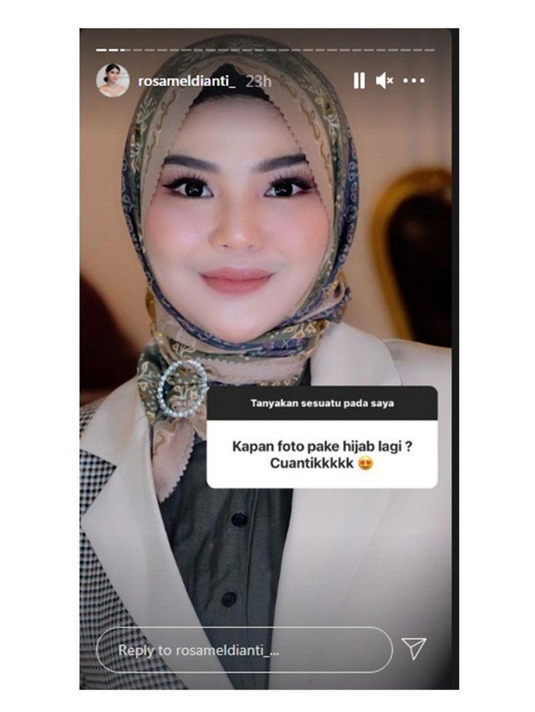 9 Potret Terbaru Rosa Meldianti Kenakan Hijab,Bak Sosialita!