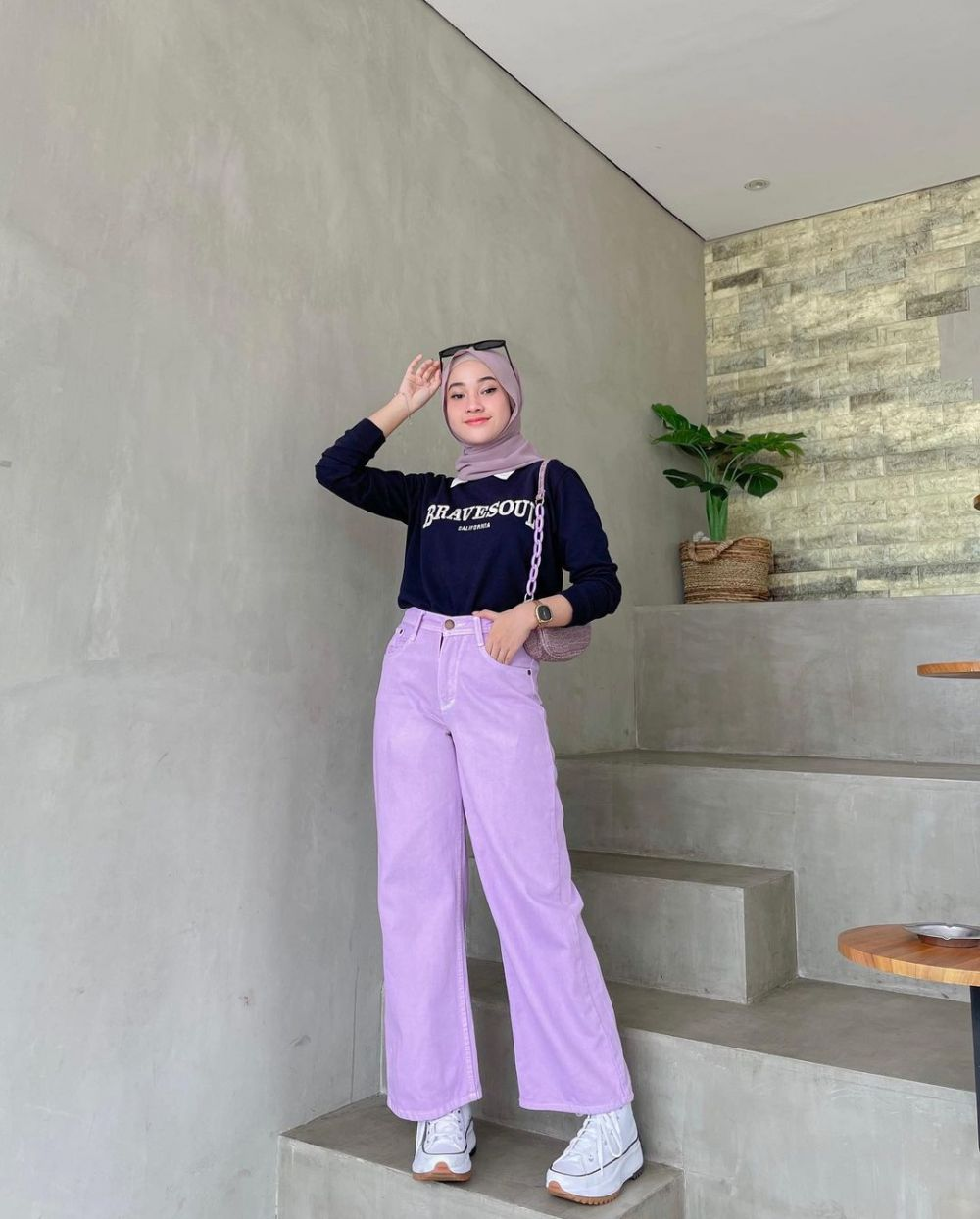 12 Ide Mix and Match Lilac Tone ala Selebgram Kirana Salsabila, Hype!