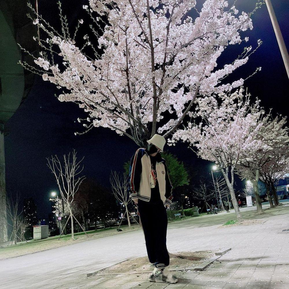 Memasuki Musim Semi, 10 Potret Ceria Idol KPop dengan Bunga Sakura