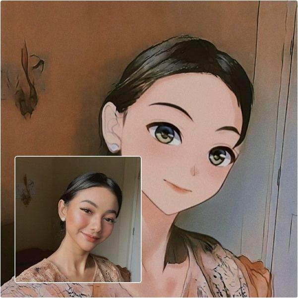 Imutnya Overload! 9 Potret Glenca Chysara Jika Dibuat Versi Anime