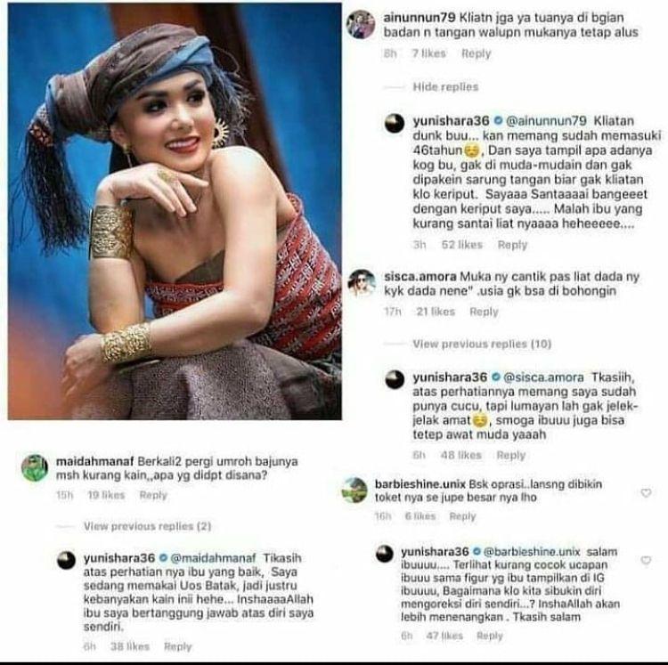 Balas Kritik Netizen dengan Santun, 10 Gaya Elegan Yuni Shara