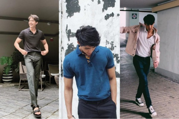 9 Inspirasi Padu Padan Polo Shirt ala Earth Pirapat, Fashionable Abis