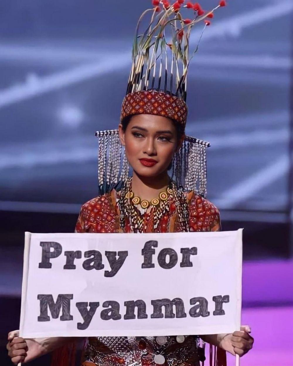 Best National Costume, 10 Fakta Kostum Miss Universe Myanmar 2020