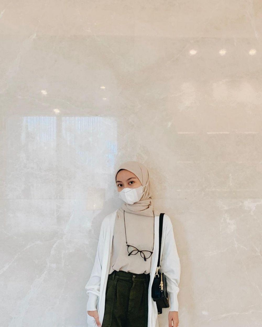 9 Ide Gaya OOTD Hijab ala Nadhifa Allya Tsana, Modis nan Kekinian