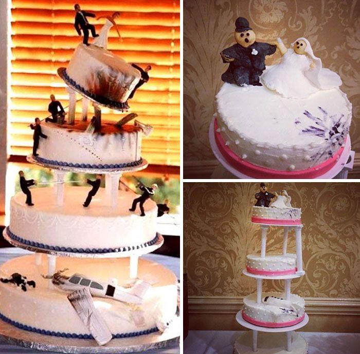 10 Foto Kue Pernikahan yang Gagal, Buat Pengantin Menangis