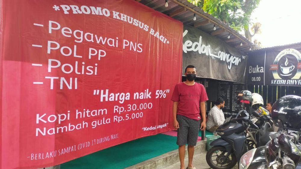 Kecewa PPKM, Harga Kopi di Warung Ini Naik Bagi ASN, TNI, dan Polisi
