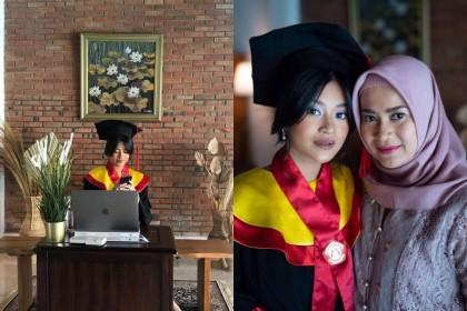 Raih Sarjana Hukum, 10 Potret Wisuda Virtual Siti Adira Kania
