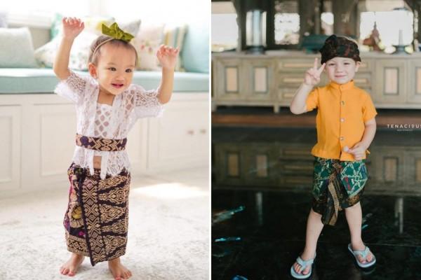 10 Potret Anak Artis Pakai Baju Adat Bali, Lucu dan Menggemaskan!