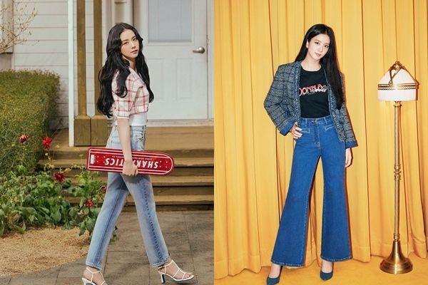 13 Referensi Padu Padan Celana Jeans ala Jisoo BLACKPINK, Trendi!