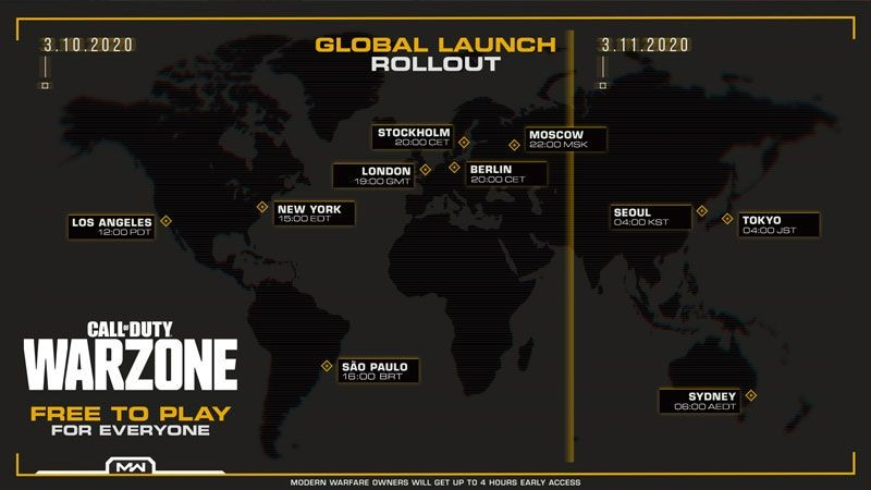 Game Battle Royale for Free-to-Play-COD Warzone Release Tomorrow