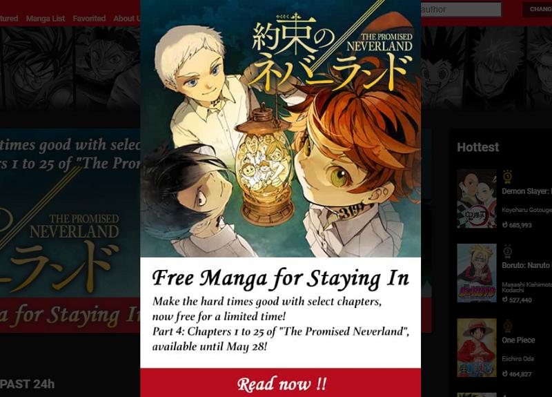 Setelah Haikyu, Giliran Promised Neverland Gratis di Manga Plus!