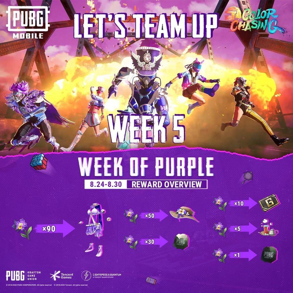 Dibagi 5 Minggu, Kuy Mabar Event Color Chasing di PUBG Mobile!