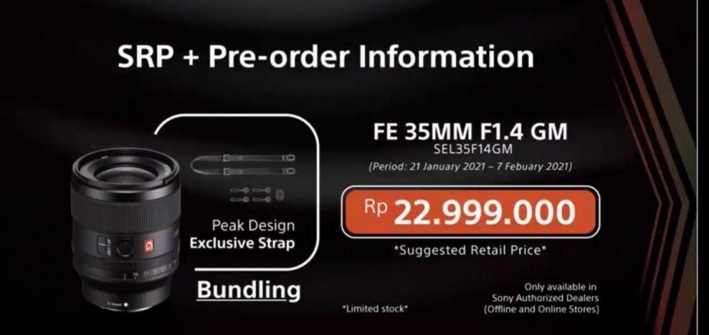 Sony Luncurkan Lensa FE 35mm F1.4 GM yang Ringan tapi Fitur Unggulan!