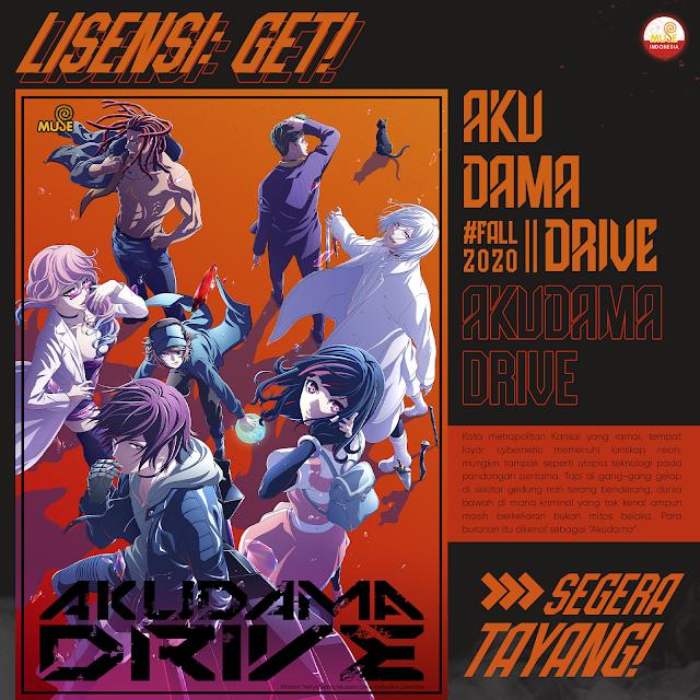 Muse Dapatkan Lisensi Anime Akudama Drive! Bakal Tayang di YouTube?