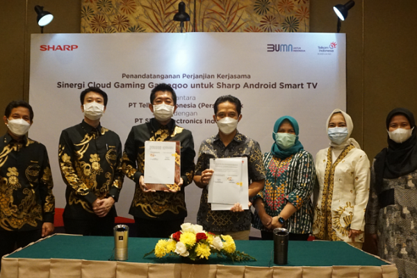 Bareng Telkom, Sharp Luncurkan TV Dengan Cloud Gaming di Indonesia!