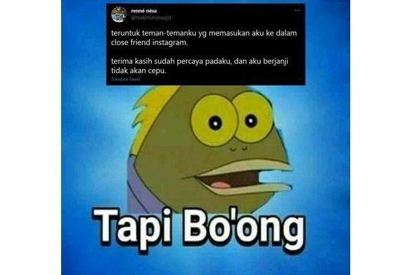 10 Meme Lucu Soal Close Friend yang Bikin Deg-degan!