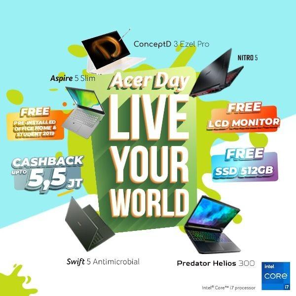 Hadir Dua Bulan, Acer Day 2021 Angkat Tema Live Your World!