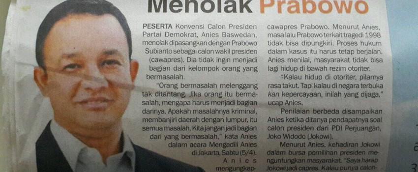 Semoga Prabowo Gak Marah Ketika Tahu Anies Baswedan Masih