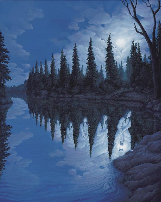 25 Ilusi Optik Hasil Lukisan Rob Gonsalves Ini Akan Membawamu Berimajinasi