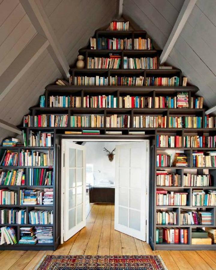 11 Desain Perpustakaan di Rumah yang Bikin Kamu Cinta Mati