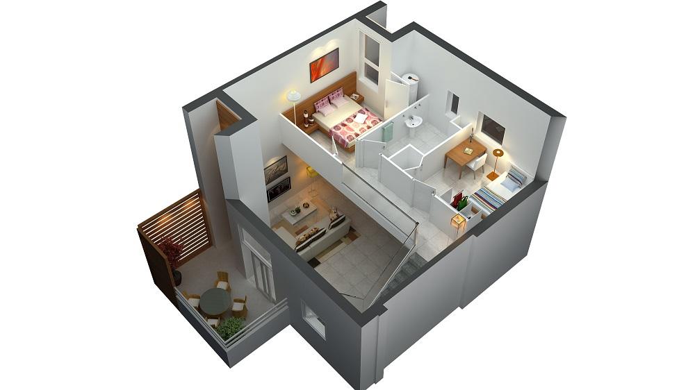21 Desain Denah Rumah Minimalis 2 Lantai Sederhana Modern